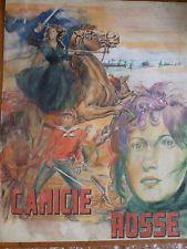 CAMICIE ROSSE bozzetto originale manifesto disegno matita -Anna Magnani-PASTELLO