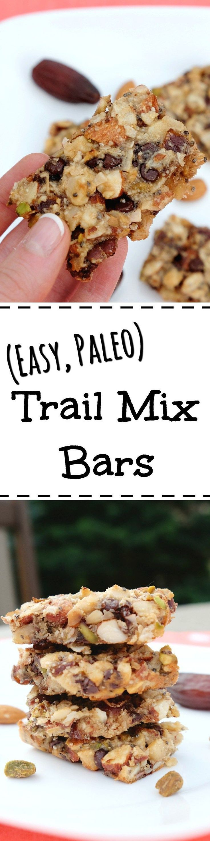 Paleo Trail Mix Bars | Mix up these customizable paleo trail mix bars in under a half an hour and have them ready to grab and go for your busy week. These convenient bars are packed with all the flavors of your favorite trail mix with no unpronounceable i (Trail Mix Kids)