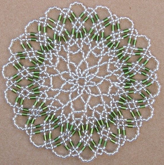 Star Doily Beadwork Pattern/Tutorial Instant от BearlyBeaded