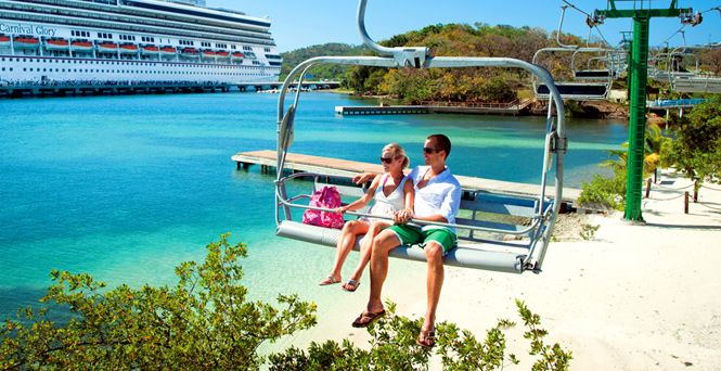 This is the way to travel in Mahogany Bay, Isla Roatan, on the Magical Flying Beach Chair!