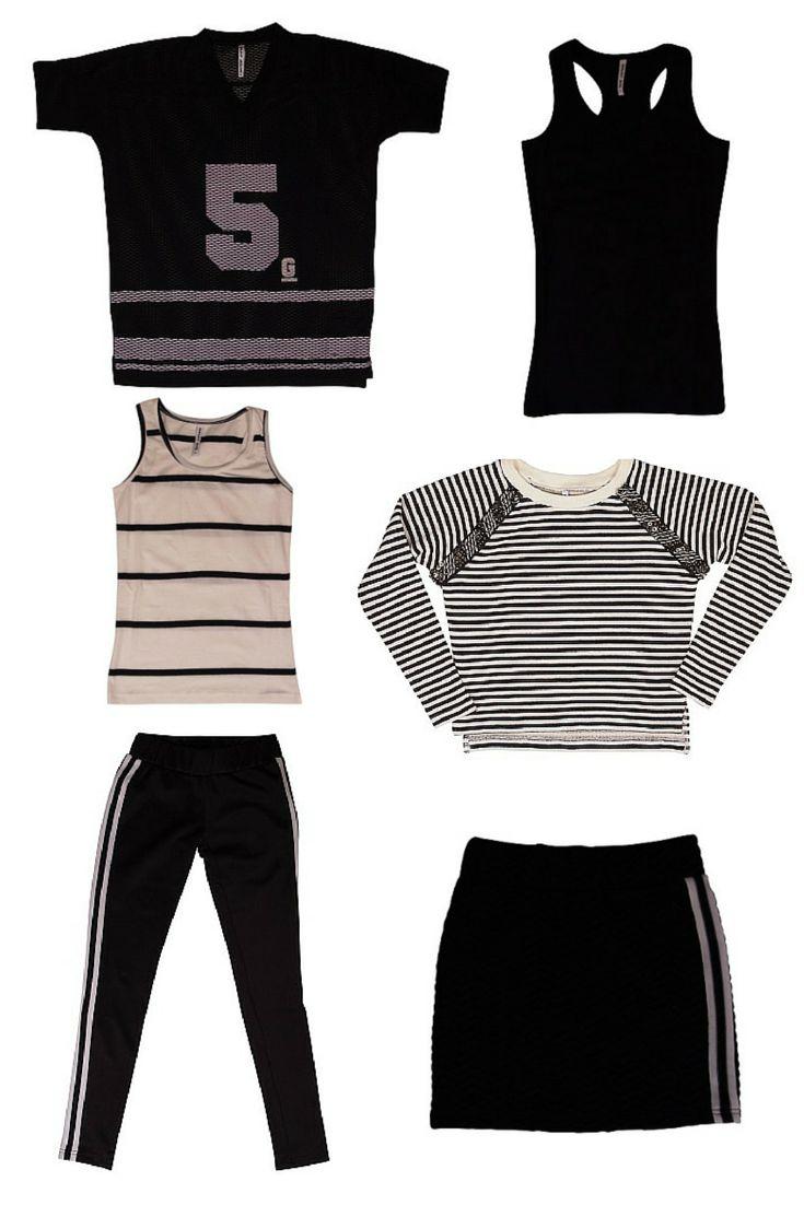 Cool Black&White for trendy girls! Nieuwe zomercollectie GRUNT. #meidenkleding, #zomercollectie, #black&white