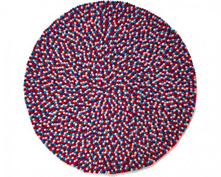 alfombra redonda de lana púrpura sintió. http://www.sukhi.es/redondas-sainyukta-alfombras-de-bolas.html