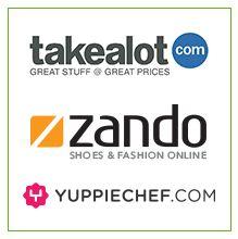 takealot.com, zando, yuppiechef.com