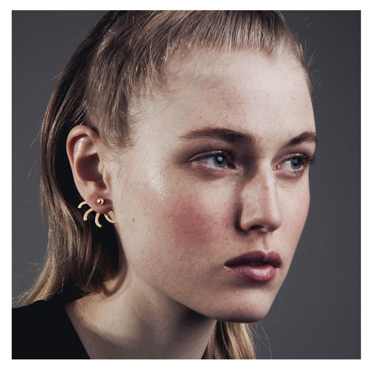The Simone Earring is a timeless piece that adds nice detail to your styling. It is composed of a stud that holds the back piece in place and is very co...