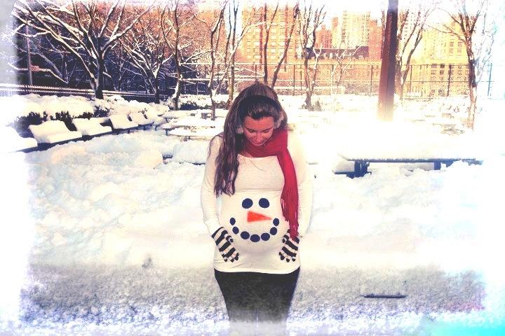 Pregnant snowman maternity