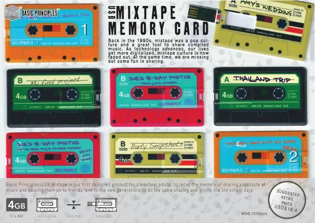 USB Mixtape Memory Card...