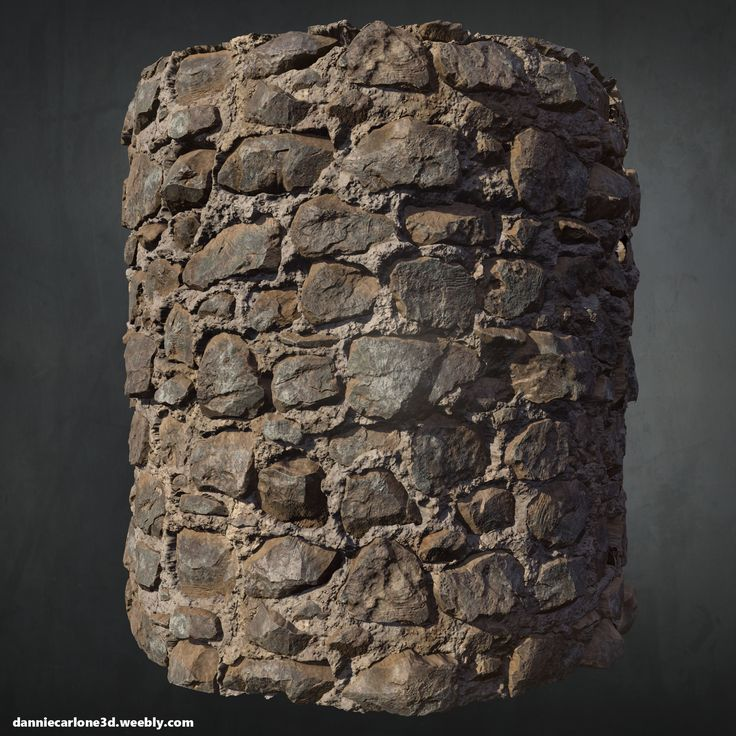ArtStation - Old Stone Wall - Zbrush + Substance Designer, Dannie Carlone