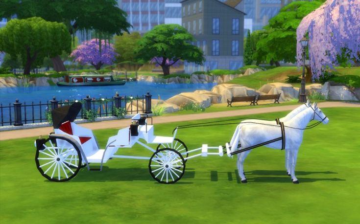 Sims 4 Calèche Mariage Déco