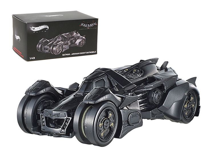 Hot wheels Batman Arkham Knight Batmobile Elite Edition 1/43 Diecast Car Model by Hotwheels - Brand new 1:43 scale diecast car model of Batman Arkham Knight Batmobile Elite Edition by Hotwheels. Rubber tires. Brand new box. Detailed interior, exterior. Comes in plastic display showcase. Dimensions approximately L-4 inches long.-Weight: 1. Height: 5. Width: 9. Box Weight: 1. Box Width: 9. Box Height: 5. Box Depth: 5