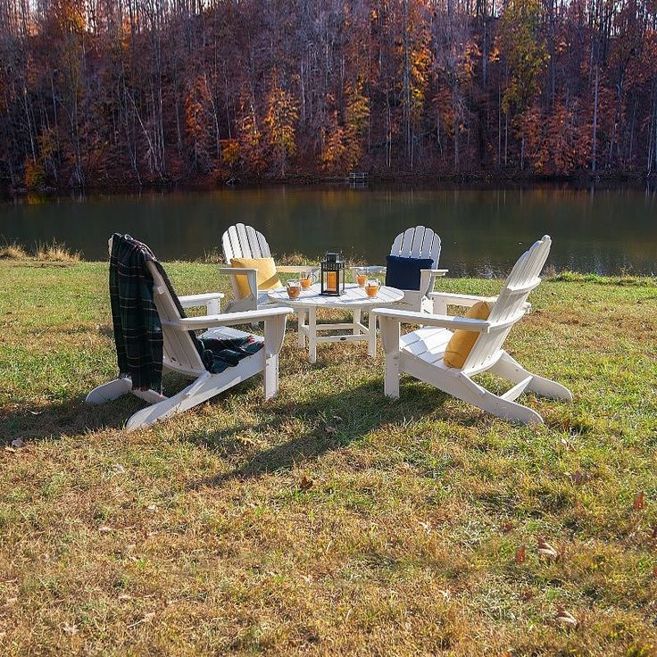POLYWOOD Classic Folding Adirondack Conversation Set in offers a relaxing, laid back style to your backyard, patio or dock. This Best Selling adirondack chair has been pleasing people of all generations with its universal appeal. A contoured seat and angle back allow you to kick back and relax in comfort. The POLYWOOD adirondack chair is constructed from recycled plastic poly wood lumber that will not rot, warp, corrode or become bug infested. Virtually no maintenance, simply hose and go as…