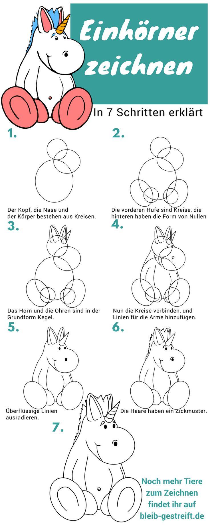 Lerne dein eigenes Einhorn zu zeichnen – in 7 Schritten erklärt