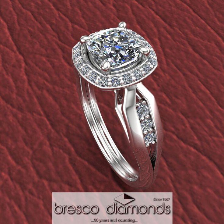 Diamond engagement rings - personalise it, your way. #customjewellery #goldsmithstudio
