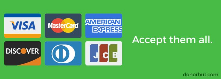 Accept credit card donations online.
