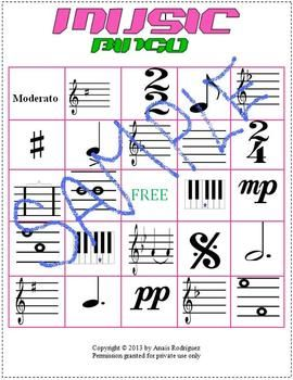 how to play music bingo