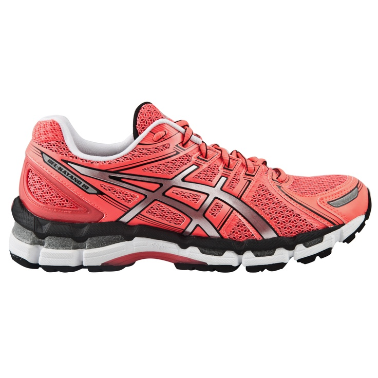 The Asics Gel-Kayano 19 Women's Running Shoe. In Hot Pink, this is