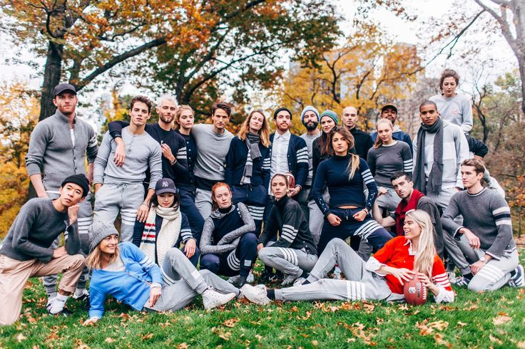Thom Browne's Annual Thanksgiving Football Game in Central Park mrspinkbiridies daughter Ari in red front row