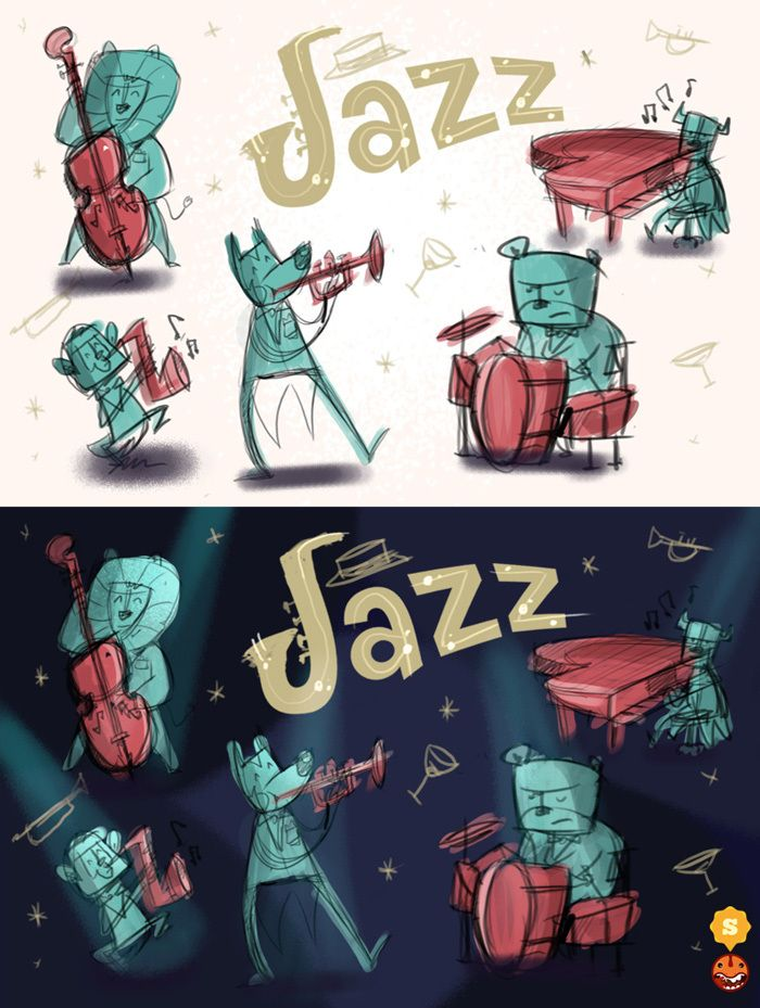 Jazz Concept - from sketch to design -  phase2
