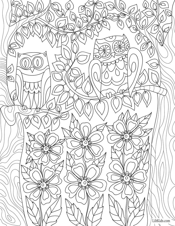 Adult Coloring Page Magic In By LiltColoringBooks