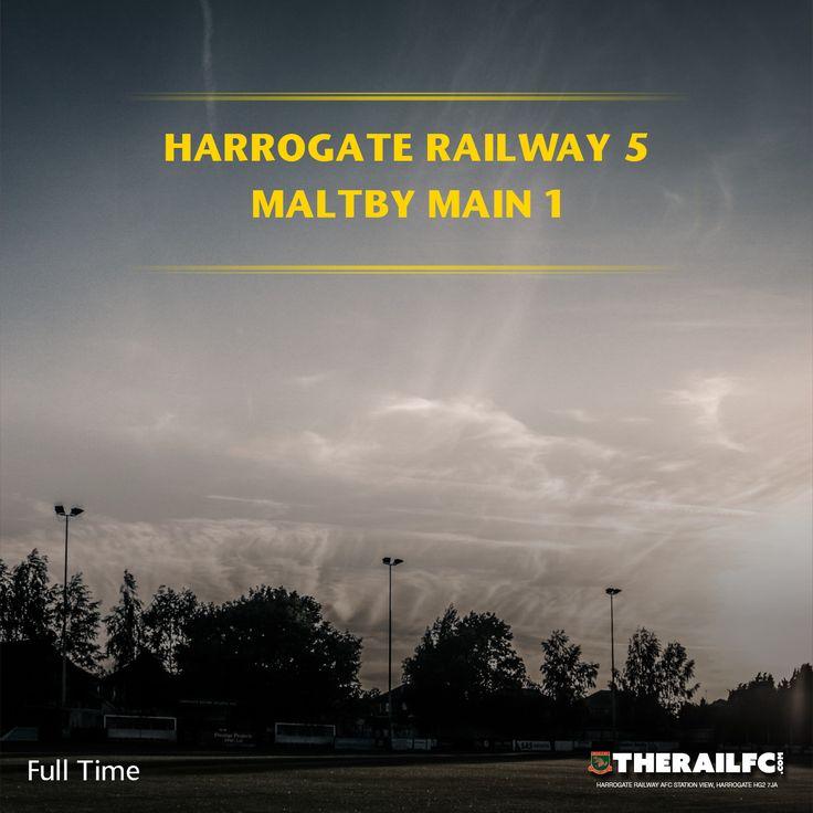 FT: Harrogate Railway 5-1 Maltby Main    @therailfc @MainMaltby @edwhite2507 @Howell_rm