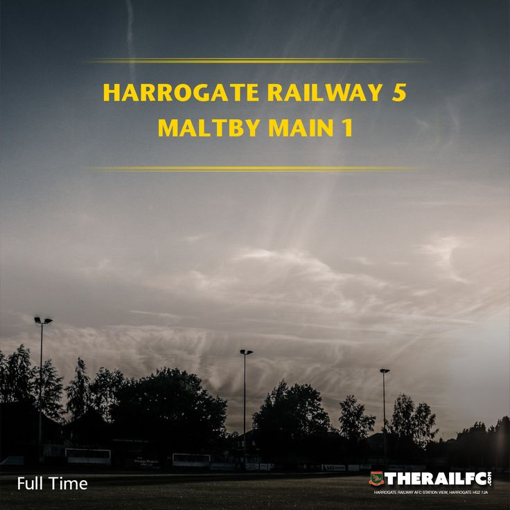 FT: Harrogate Railway 5-1 Maltby Main    @therailfc @MainMaltby @edwhite2507 @Howell_rm