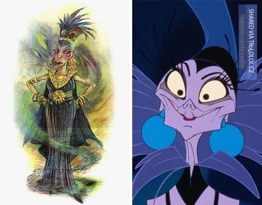 Původní kreslené návrhy Disney postaviček-Yzma-Není král jako král