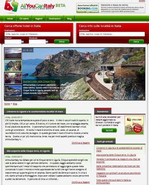 Da oggi il nostro blog http://www.allyoucanitaly.it/blog ha una disposizione grafica che fa risaltare maggiormente le immagini degli itinerari proposti. Vi piace?