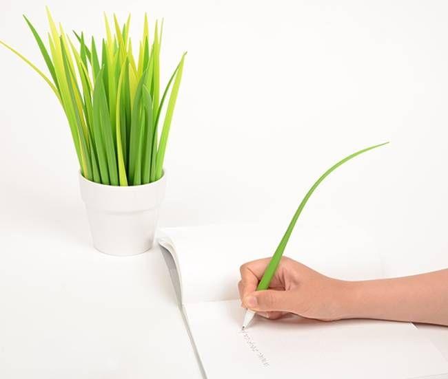 Pooleaf – The Grass Leaf Pen, $5 #design #office #simple #cool