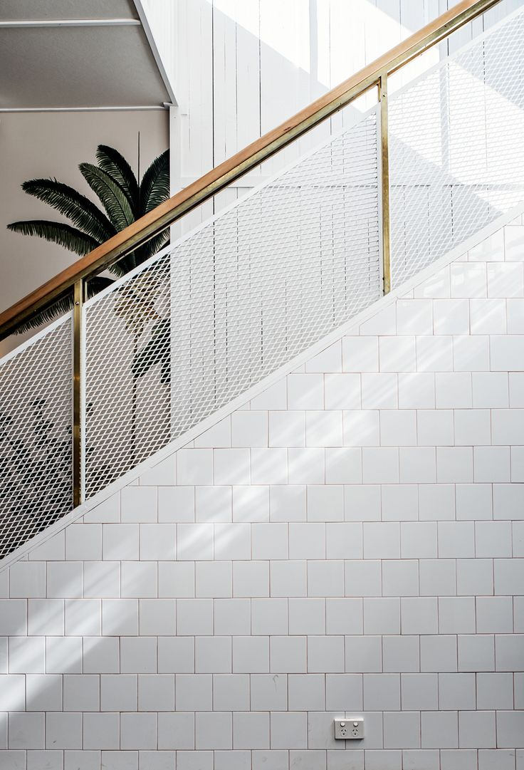 Lucketti Krelle | The Butler, Potts Point; restaurant and bar, balustrade and tiling detail