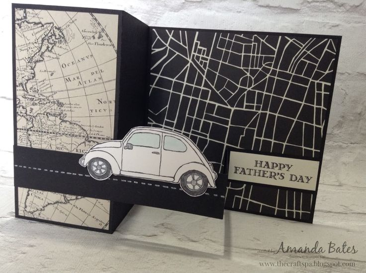 The Craft Spa - Stampin' Up! UK independent demonstrator : Happy Father's Day... Going Places & Beautiful Ride Square Swing Arm Card