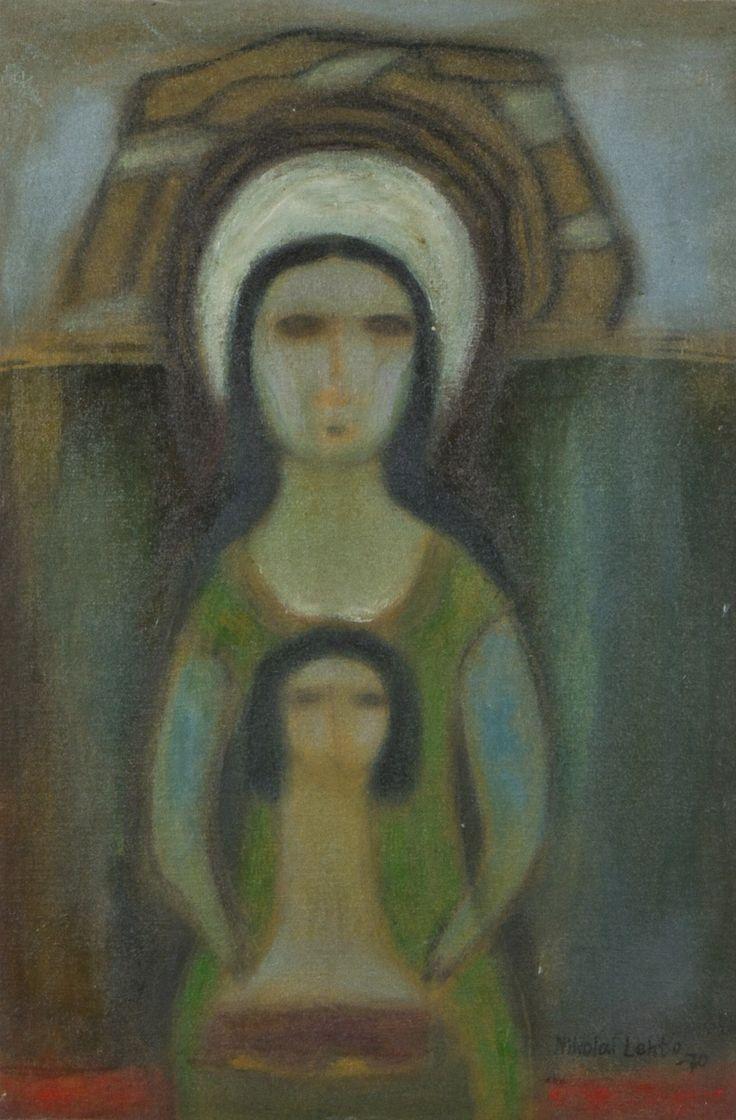 Nikolai Lehto: Madonna, 1970, öljy, 39x26 cm - Hagelstam A136