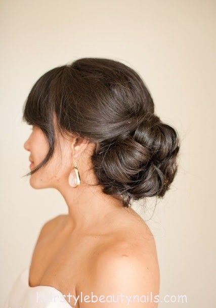 bun hairstyle beauty picture photo image (19) http://www.hairstylebeautynails.com/hairstyles/bun-wedding-hairstyle-36/