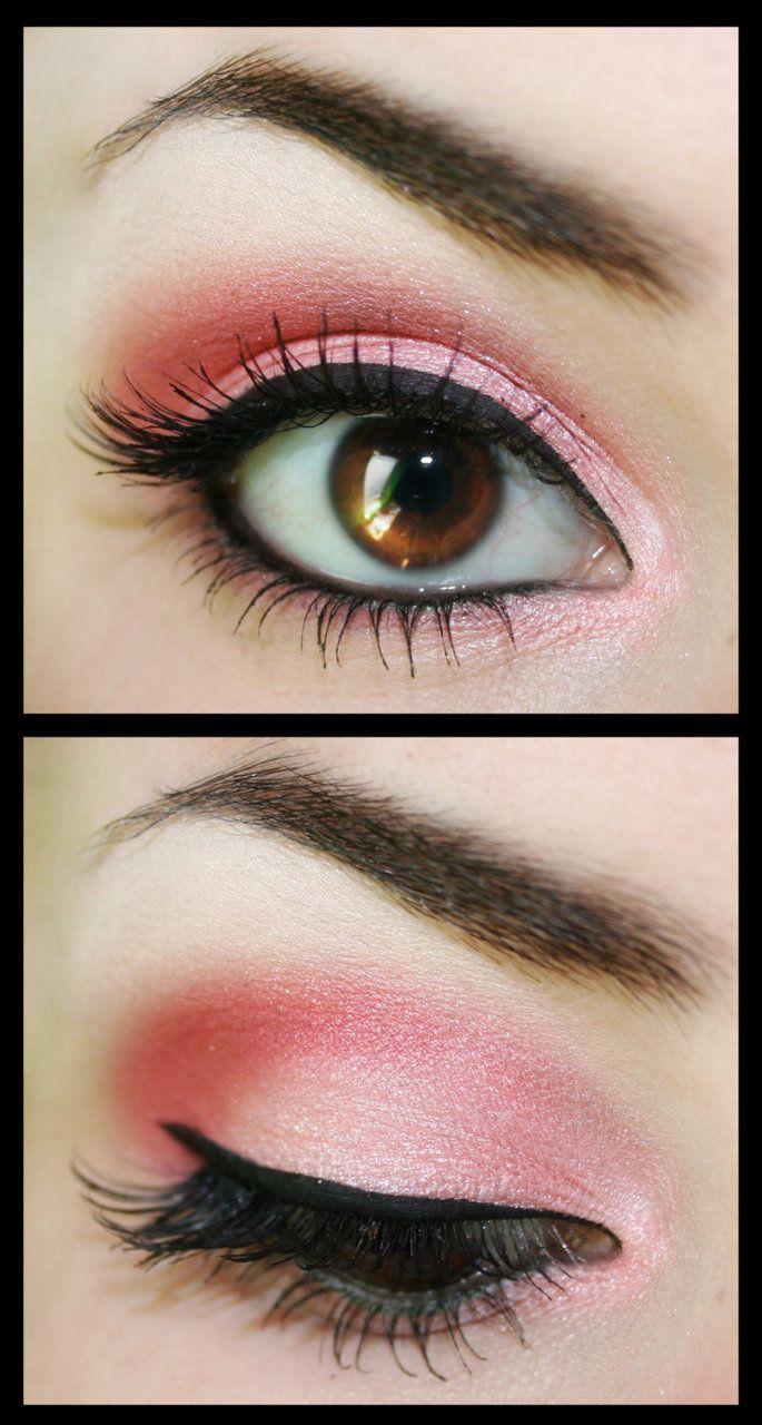 pink and brown eyes