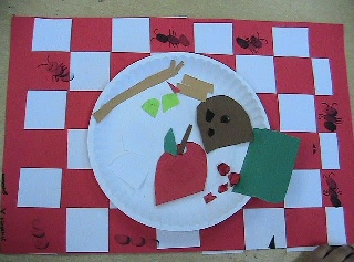 Ants at the Picnic Arts and Crafts Project...perfect final project for the kinders