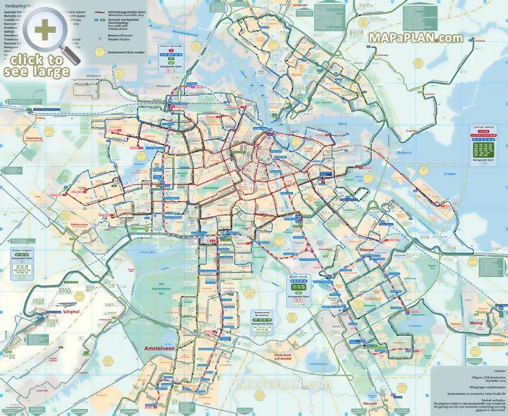 12 Best Amsterdam Tourist Maps Images On Pinterest Travel Cards: Amsterdam Tourist Map English At Slyspyder.com