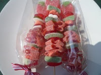 Sweet candy kebabs https://www.facebook.com/pages/Little-Puddings-Nappy-Cakes/364099029024?group_id=0