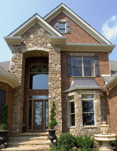 Pinterest the world s catalog of ideas for Brick and stone exterior ideas