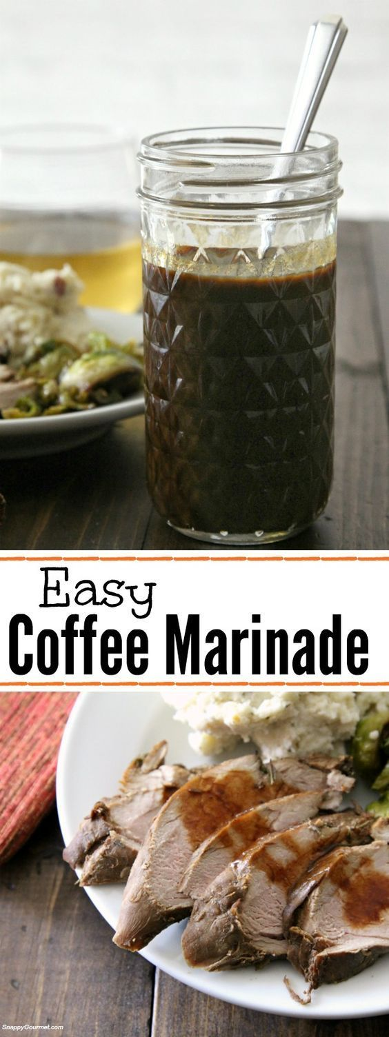 Easy Coffee Marinade - quick and easy marinade that can also be turned into a sauce! Great pork and steak marinade! SnappyGourmet.com (#sponsored)