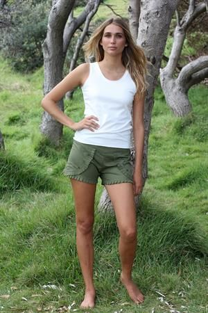 Funky pleat trim shorts by Rainsong