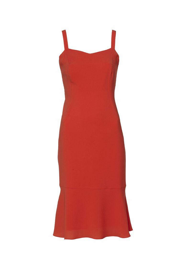 Sukienka z falbanką na dole ARYTON wiosna-lato 2014