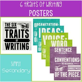 writing traits posters • sense of audience • writing is lifeless • no hint of the writer • writing tends to be flat or stiff •stereotypic, copied tone and voice • voice may be.