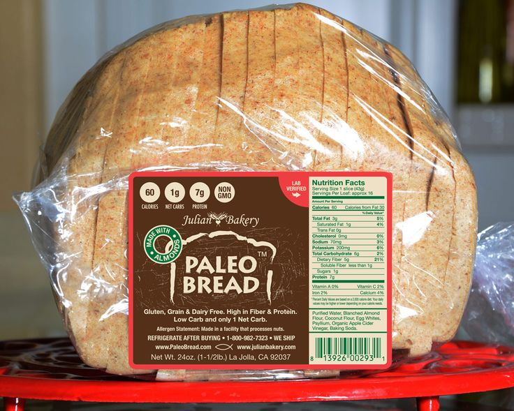 Paleo Bread™ -Almond (1 Carb) No impact on blood sugar. And it's tasty! A good facilitator for tuna sandwiches, peanut butter (low glycemic PB) & jelly (sugar free) sandwiches. . etc.