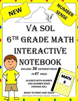 If you are teaching Grade 6 Math in VIRGINIA, this SOL Interactive Notebook will be a wonderful addition!!!