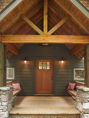 Wintergreen Retreat: Lindal Entry with seating by Lindal Cedar Homes, via Flickr