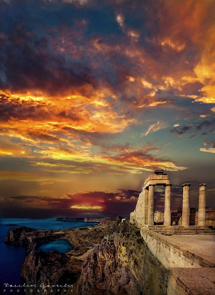 The temple of Athena Lindia | PHOTOinPHOTO