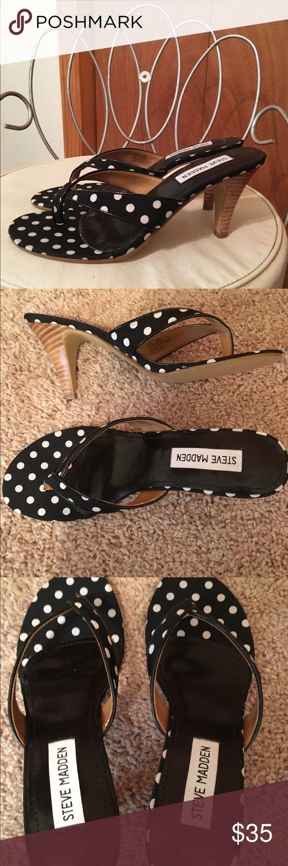 Brand new Steve Madden sandals😄❤ Gorgeous black and white heel sandals size 7.5 😄❤♠️ Steve Madden Shoes Sandals