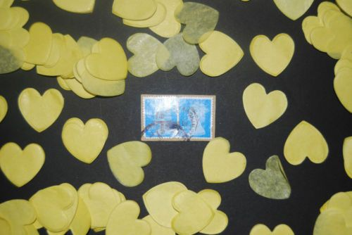 CONFETTI-YELLOW-Love-Hearts-Bio-Degradable