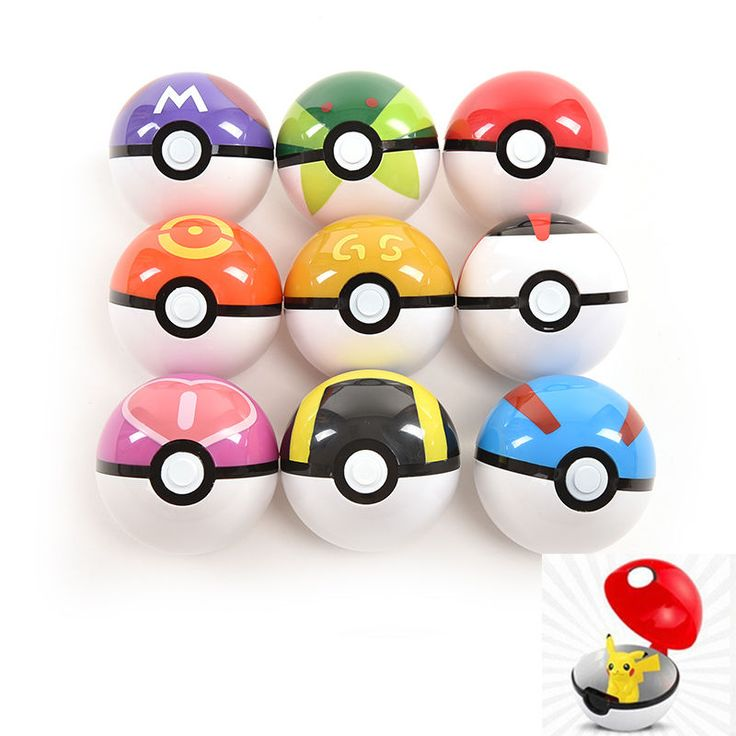 Pop-up Ball Game for POKEMON Pokeball Toy Ball for Ketchu Poke Ball 9 Color gtuk #Unbranded