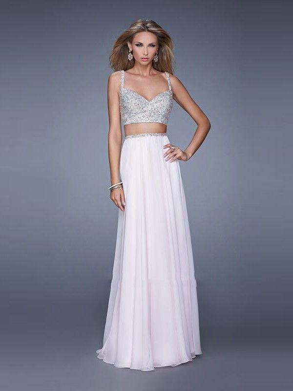 A-Line/Princess Spaghetti Straps Sleeveless Beading Floor-Length Chiffon Dresses