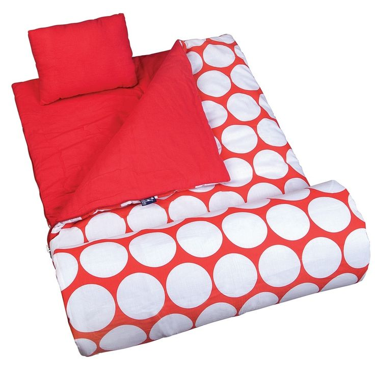 My Sweet Dreams Baby Big Dots Red And White Kids Sleeping Bag