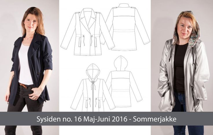Sysidens Sommerjakker #SY116 Symønster til 119,- inklusiv online magasin (Medlemspris 99,-)
